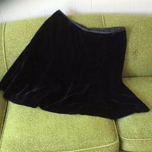 Liz Claiborne velvet skirt.